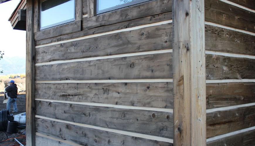 hand hewn log cabin