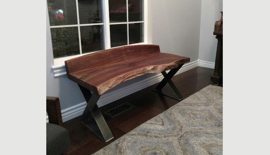 wallnut slab table top